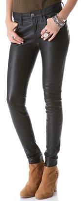 Current/Elliott Ankle Skinny Leather Pants