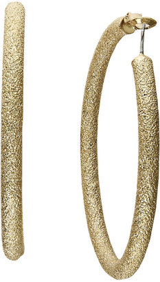 INC International Concepts Gold-Tone Diamond Dust Hoop Earrings