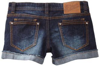Vigoss Girls 7-16 Raw Roll Cuff Short with Double Back Pocket