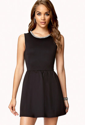 Forever 21 Rhinestoned Fit & Flare Dress