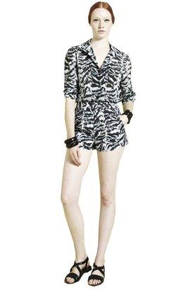 Alice + Olivia High Waist Front Pleat Shorts