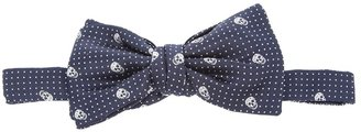 Alexander McQueen polka dot and skull print bow tie