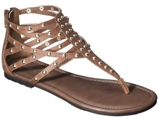 Mossimo Women's Odella Gladiator Stud Sandal - Brown