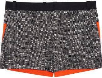 Victoria Beckham Denim Tweed and stretch-cotton shorts