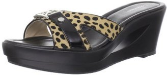 Calvin Klein Women's Rebah Cheetah Wedge Sandal