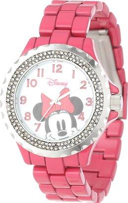 Disney Women's W000503 Minnie Mouse Enamel Sparkle Bracelet Watch