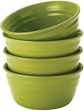 Rachael Ray Set of 4 Double Ridge Cereal Bowls