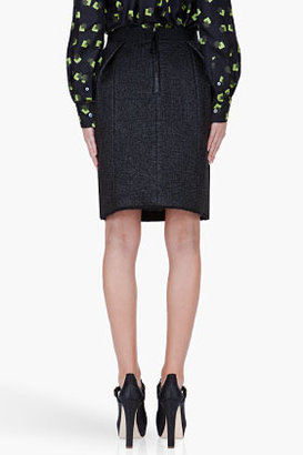 Marc Jacobs Black Mohair Blend Magda Skirt