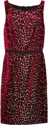 Giambattista Valli Jacquard-velvet leopard-print dress
