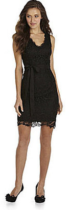 Miss Me Lace Dress with Sash Tie