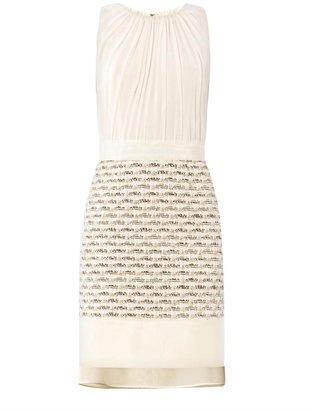 Giambattista Valli Metallic boucle and silk dress