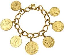Ben-Amun Ben Amun Gold Coin Charm Bracelet