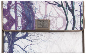 Dorothy Perkins White tree print clutch