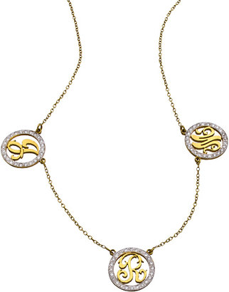 Kacey K Fine Jewelry Gold and White Diamond Extra Small Multi Initial Necklace