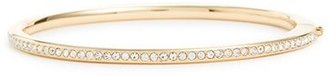 Women's Nadri Channel Set Crystal Hinged Bangle $65 thestylecure.com