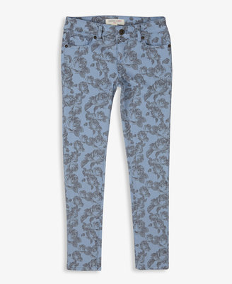 Forever 21 girls Faded Rose Print Skinny Jeans