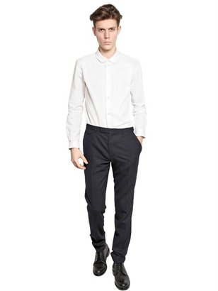 Carven Oxford Cotton Round Collar Shirt