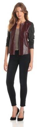 Rachel Roy Collection Women's Ponte Leather Mix Jacket