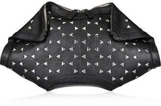 Alexander McQueen De Manta studded leather clutch
