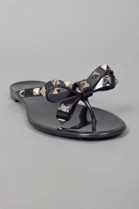 Valentino Thong w/Studded Bow Black