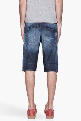 Diesel Dark indigo faded Kroshort denim Shorts