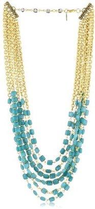 "Rachel Reinhardt Kate"" Nested Blue Jade Multi-Strand Necklace"