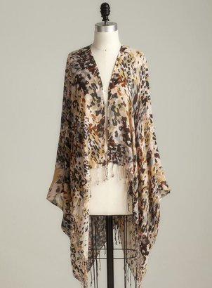 Cejon Printed Abstract Leopard Scarf