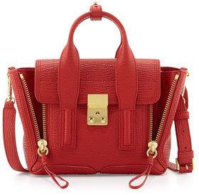 3.1 Phillip Lim Pashli Mini Leather Satchel Bag, Red $695 thestylecure.com