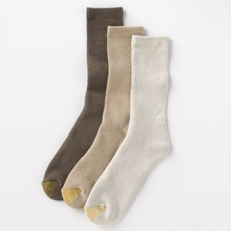 Gold Toe Men's GOLDTOE 3-pk. Uptown Crew Socks
