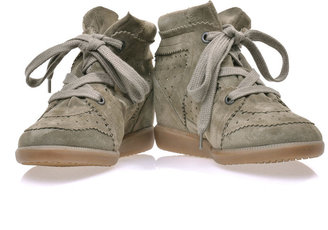 Isabel Marant Bobby suede wedge trainers