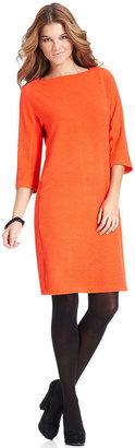 Fever Dress, Three-Quarter-Sleeve Ribbed Shift