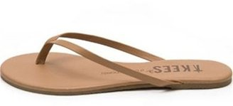 TKEES Foundation Collection Leather Sandal in Coco Butter