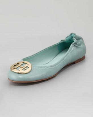 Tory Burch Reva Tumbled Ballerina Flat, Sea Glass