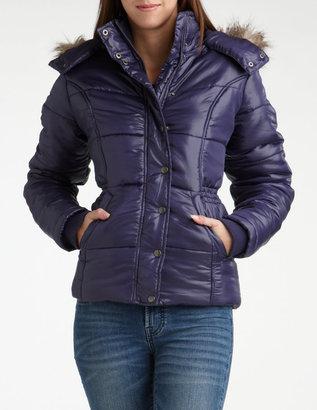 Charlotte Russe Fur Hood Puffer Jacket