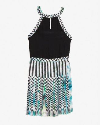 Parker Selita Pleated Keyhole Dress