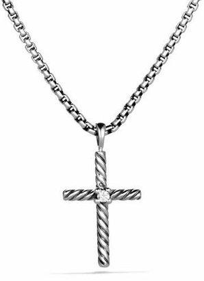 David Yurman Cable Classics Cross with Diamond on Chain $325 thestylecure.com