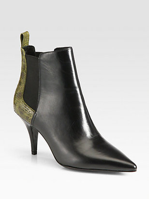 3.1 Phillip Lim Bunty Leather & Fish Skin Ankle Boots