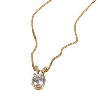 14k Gold 1/4-Ct. Certified Diamond Solitaire Pendant