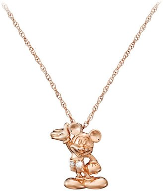 Disney Mickey Mouse Necklace Diamond and 14K