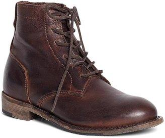 Vintage Shoe Company Short Leather Lace-Up Boots $308 thestylecure.com