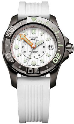 Swiss Army Victorinox 'Dive Master' Round Rubber Strap Watch