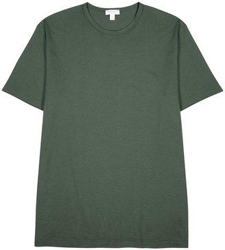Sunspel Forest Green Cotton T-shirt