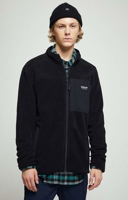 Burton Black Hearth Polar Fleece Zip-Up