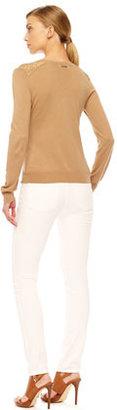 MICHAEL Michael Kors Stud-Shoulder Sweater