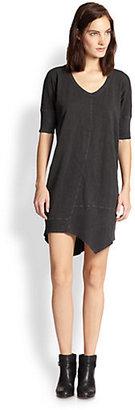 Wilt Asymmetrical Paneled Cotton Jersey Dress