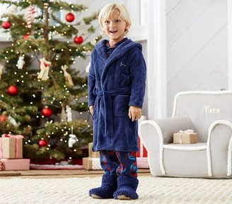 Pottery Barn Kids Navy Fleece Robe, L (8-10)