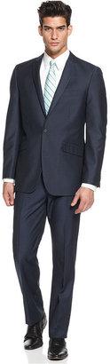 Kenneth Cole Reaction Suit, Blue Tonal Striped Slim Fit