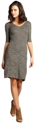 BCBGMAXAZRIA pine stretch wool blend 'Shay' long sleeve sweater dress