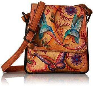 Anuschka Women's Genuine Leather Bag | Hand painted Original Artwork | Crossbody Organizer |