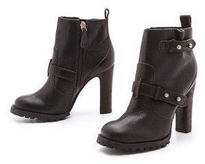 Tory Burch Landers Leather High Heel Booties